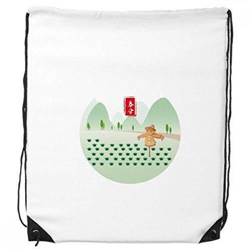 DIYthinker Vernal Equinox Twenty Four Sonnenzeit-Rucksack Einkaufssporttaschen Geschenk