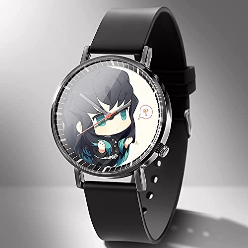 Guerlam Anime Watch, Demon Slayer: Tomioka Giyuu, Reloj Digital Impermeable, Reloj de Pulsera Unisex niños, Relojes de Cuarzo Reloj de Pulsera Casual para Mujer