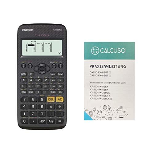 Casio FX-83GTX Schwarz mit kostenloser Praxisanleitung und erweiterter Garantie