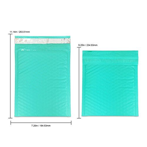 "Beauticom TEAL (30 Pieces) #0, 6x10 Self-Seal Poly Bubble Mailer 6.25"" x 9 1/4"" Photo #4"