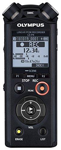 Olympus LS-P4 PCM - Grabadora de voz y música (memoria de 8 GB, ranura microSD, USB directo, Bluetooth), Negro