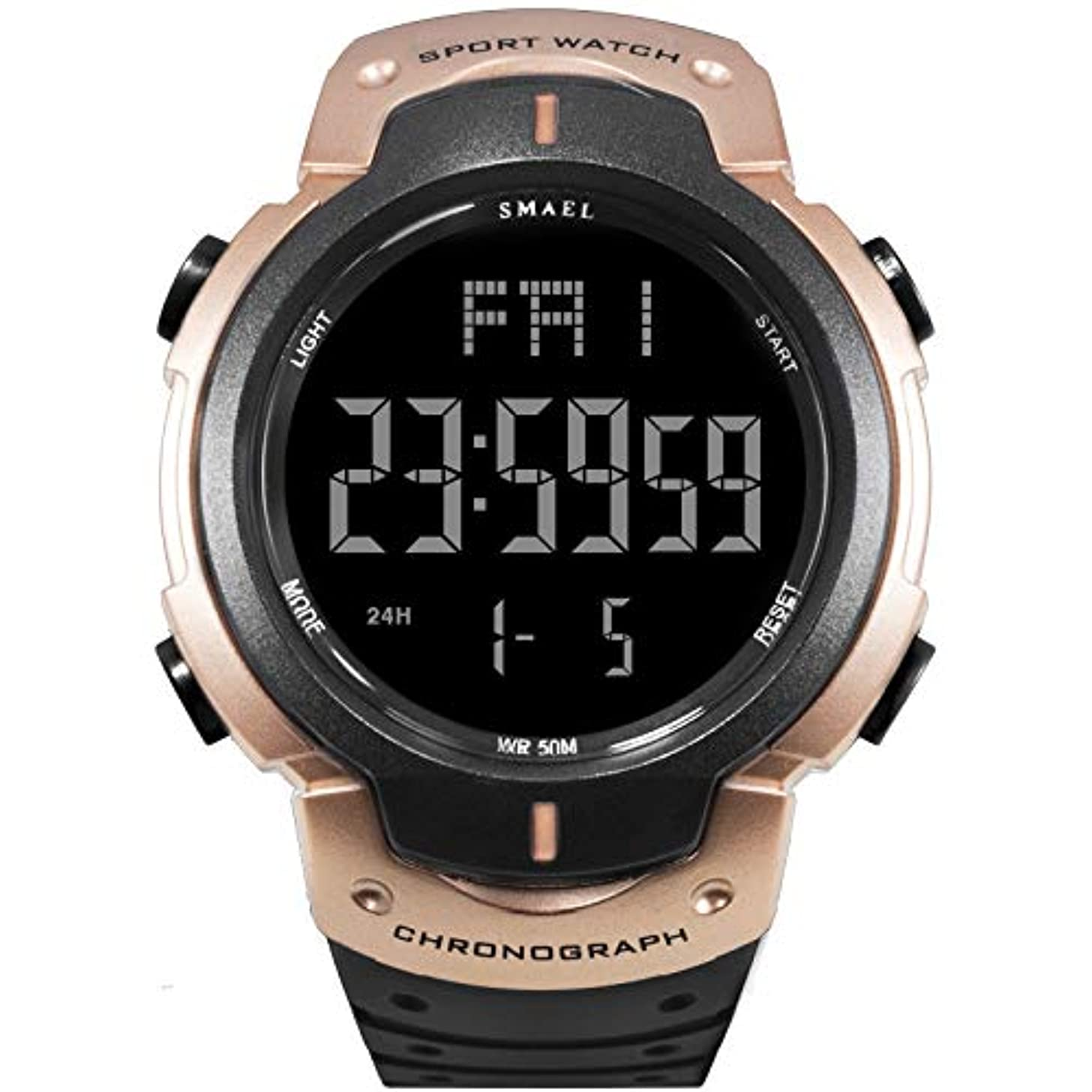 Clearance! Hot Sale! ?Casual Men's Simple Digital Dial Calmly Strap Waterproof Sports Outdoor Watch for Father Men Student Youth Teens Boyfriend Lover's Birthday Anniversary Gift Under 10 Dollars