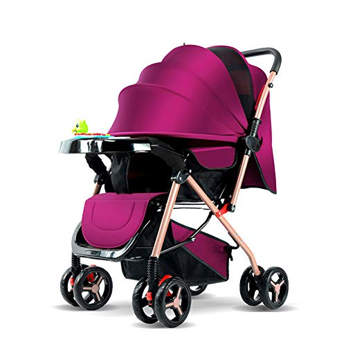 WGXQY kinderwagen tweeweg-zitjes kan liggend ultra lichte draagbare plooien 0/1-3 jaar oud kind vier wielen BB baby paraplu auto
