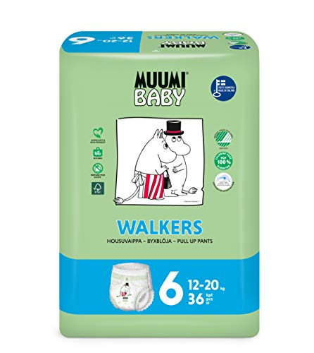 Muumi Baby Öko Windelhöschen Größe 6, 12-20 kg, 36 Empfindliche Premium Windelhöschen