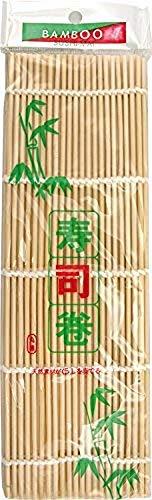 JADE TEMPLE Bambusmatte für Sushi, für die Zubereitung von Maki Sushi, 24 x 24 cm, 1 x Bambusmatte
