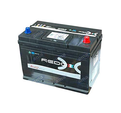 Batería de 12 V carga con capacidad 100 Ah, arranque 850 A, dimensiones 303 x 175 x 227 mm, polaridad a la derecha.