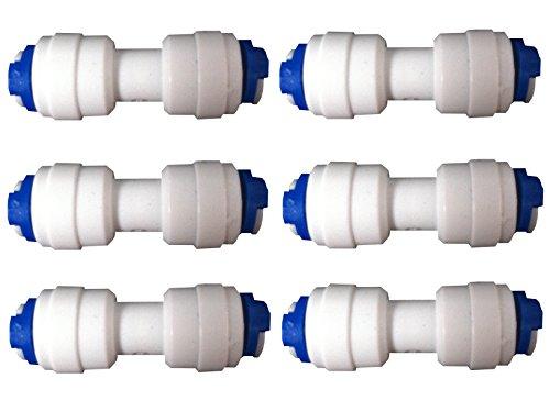 Nature's Water Lot de 6 raccords pour tuyau de réfrigérateur congélateur 1/4\