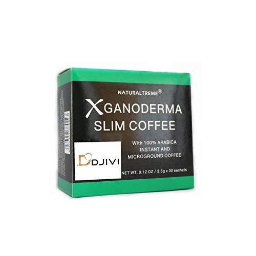 Dodjivi Ganoderma Slim Coffee & Detox 100% Arabica Black Premium Instant Coffee - (1 Box of 30 Sachets)