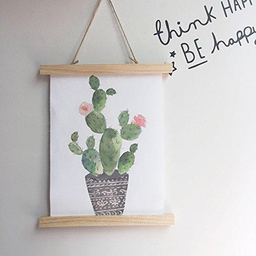 merymall Decoración para colgar en la pared de la habitación de los niños, estilo nórdico, decoración creativa para el hogar, cactus, 30 * 35CM