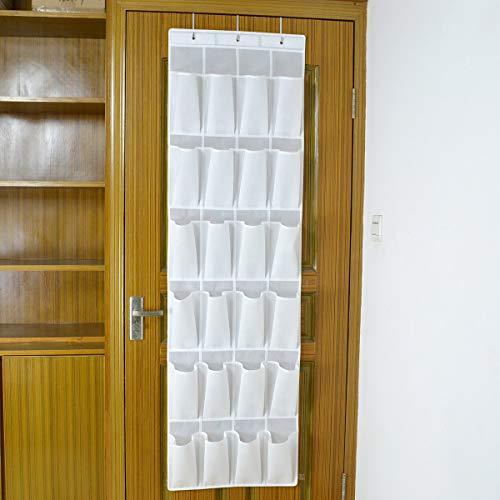 Demarkt - Organizador de Zapatos, 24 Bolsillos, para Dormitorio, habitación de bebé, Cocina, Oficina, Tela, Blanco, 32 * 17 * 5.5CM