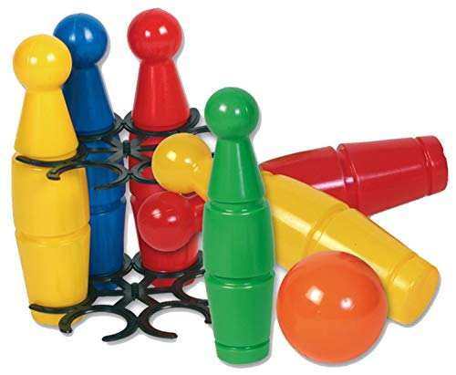 Dohany Kegel Bowling Spielset Klein 6 Kegeln 1 Kugel Wurfspiel Kinderspielzeug 24 cm