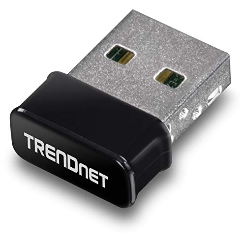 TRENDnet - TEW-808UBM Micro AC1200 Wireless USB Adapter, MU-MIMO, Dual Band Support 2.4GHz/5GHz, Supports Windows/Mac, TEW-808UBM Black