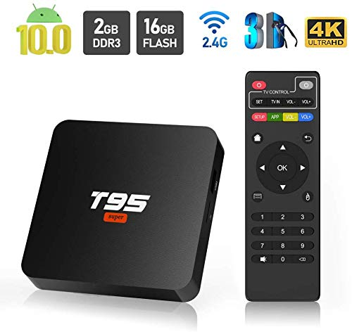 pas cher un bon Android TV Box, T95 Super Android 10.0 TV Box 2 Go de RAM / 16 Go de ROM Allwinner H3 Quad Core Support…