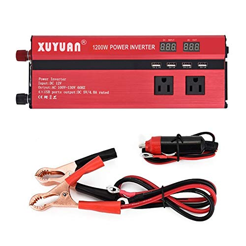 Bubbry XUYUAN Led-display Auto omvormer converter DC 12 V naar AC 110 V auto-oplader
