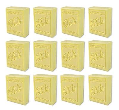 Bela Bath & Beauty, Honeysuckle, Triple French Milled Moisturizing Soap Bars, No Harsh Ingredients, 3.5 oz each - 12 Pack