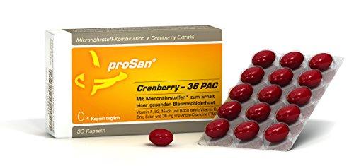 proSan® Cranberry-36 PAC [nur 1 Kapsel täglich] - Immunsystem stärken - 36 mg Cranberry-PAC + Mikronährstoffe für eine gesunde Blasenschleimhaut und ein starkes Immunsystem