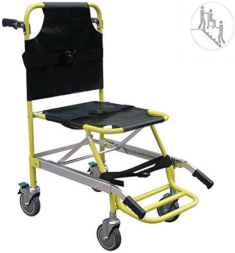 GLJY Treppenstuhl EMS Emergency 4 Wheels Ambulance Firefighter Evakuierung Medical Transport Chair Sicherer und schneller Transfer nach Oben und unten Aluminium Leichtgewicht