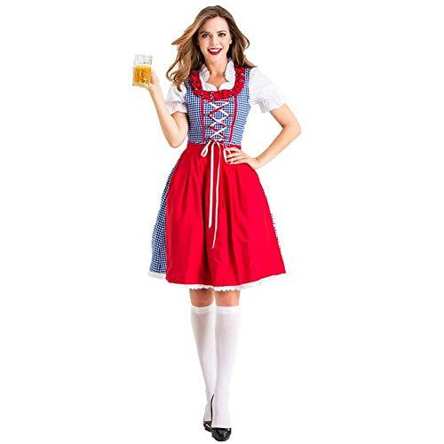 LLSS Kostüme Kostüme Frauen Oktoberfest Kostüm Bayerische Kostüme für Frauen Sexy Dirndl Kleid Dienstmädchen Halloween Kostüme Cospla Arbeitskleidung