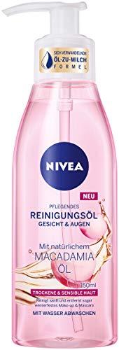 NIVEA Pflegendes Reinigungsöl im 1er Pack (1 x 150 ml), sanfte Gesichtsreinigung für trockene & sensible Haut, mildes Reinigungsöl für Gesicht & Augen