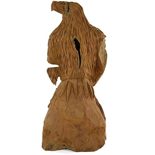 *Teak Skulptur Adler Teakholz Dekoration Echtholz Massiv Deko Wurzel Holz Statue Handarbeit NR23*