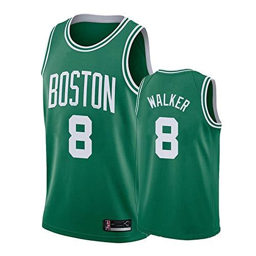 Jersey bordado para hombre, diseño de Boston Celtics #8 Kemba Walker retro baloncesto Jerseys, Cool transpirable tela unisex sin mangas camiseta, Europa y América, Hombre, color Verde2, tamaño S