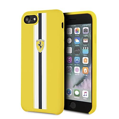 Ferrari - Líneas de silicona para iPhone SE/8/7, color amarillo