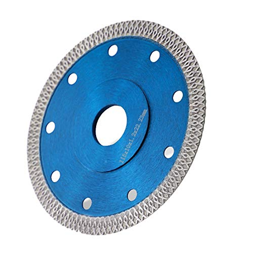 Heritan 4.5 Pulgadas Cortes de Porcelana Disco de Cuchilla de Corte en Seco Turbo de Azulejo Muela Abrasiva para Amoladora de Discos para Cortar Azulejos Secos o HúMedos