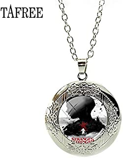 Pendant Necklaces - New Hot Stranger Things Locket Necklace Movie Poster Decoration Glass Chain Fashion Jewelry for Women and Men Fans QF149 - by Mct12-1 PCs
