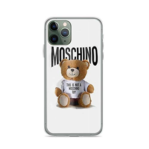 Phone Case Mos-chi-no Toy Bear Compatible with iPhone 6 6s 7 8 X XS XR 11 Pro Max SE 2020 Samsung Galaxy Absorption Bumper Waterproof