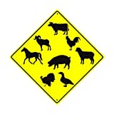 Wise Degree Metal Sign Poster Animals Crossing Wand K¨¹Che Kunst Cafe Garage Shop Bar Dekoration