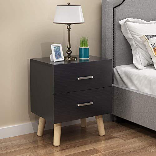 Modernt rektangulärt nattduksbord, sidoänd, kaffeaccentbord, skåp med låda för förvaring, enkel montering
