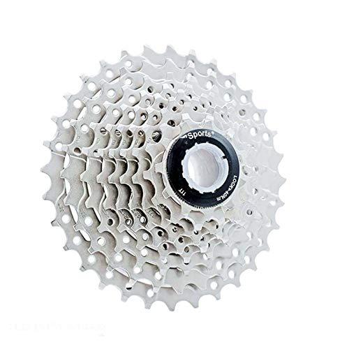 Lijincheng Ruedas Libres Cassette 9 Velocidades MTB Bicicleta Freewheel Engranaje 11-32T Piezas De Bicicleta De Montaña De Silver MTB Sprocket para Shimano Sram Casteete (Color : 9 Speed 11 32T G)