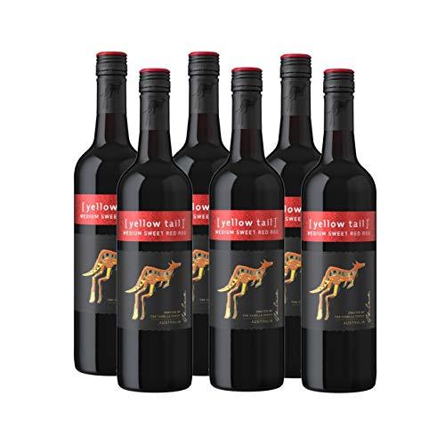 Yellow Tail Medium Sweet Red Roo – Lieblicher, aromatischer Rotwein aus Australien (6 x 0,75l)
