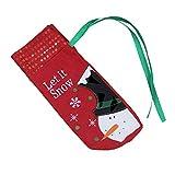 N / A Navidad Navidad lentejuelas bordado vino tinto conjunto bolsa de vino hotel decoración de mesa botella de champán botella de vino cubierta decoraciones de Navidad