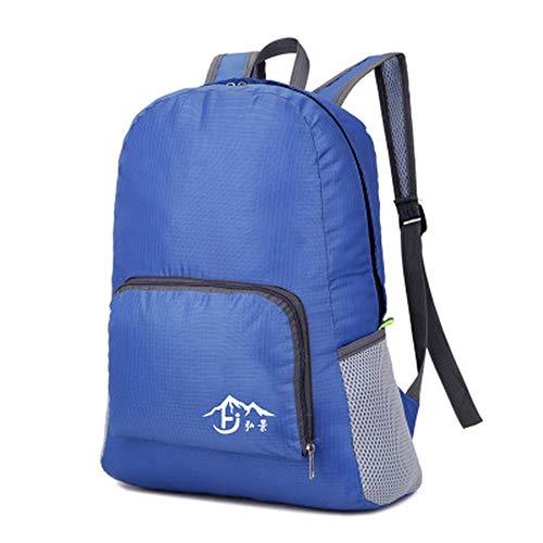 Borsa da viaggio pieghevole borsa a tracolla pieghevole borsa da viaggio per il tempo libero zaino in nylon tessuto jelly zaino maschio, blu royal, 16 pollici