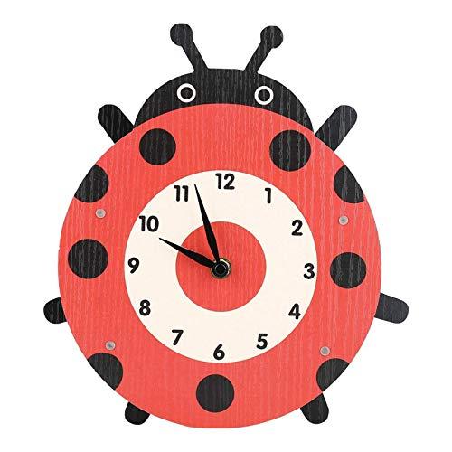 Belleashy - Reloj de pared para niños (madera de densidad media)