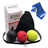 HAILIDA Pelota de Entrenamiento Boxeo, de Silicona, con 3 Pelotas de Boxeo para Entrenamiento de Velocidad y Respuesta
