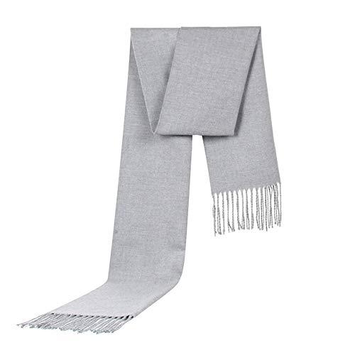 Emorias 1 x Herren-Schal, modisch, für Herbst und Winter, Halstuch, warm, Accessoires, Grau