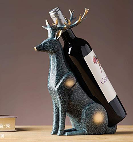 LONGJUAN-C artesanía Decoraciones del Arte del Arte Elk Adornos Estante del Vino Vino de Mesa Enfriador de Vino portavasos casa Restaurante Estante Estatua