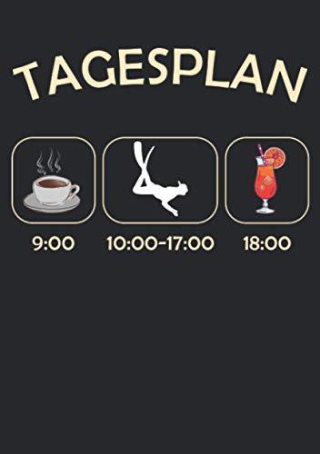 Notizbuch A5 dotted, gepunktet, punktiert mit Softcover Design: Tagesplan Tauchen Tauchkurs Kaffee Cocktail Humor: 120 dotted (Punktgitter) DIN A5 Seiten