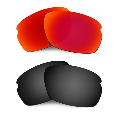 HKUCO Mens Replacement Lenses For Oakley Carbon Shift Sunglasses Red/Black Polarized
