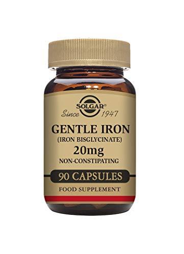 Solgar® Gentle Iron (Iron Bisglycinate) 20 mg Vegetable Capsules - Pack of...