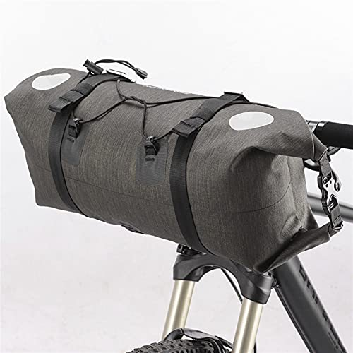 DFKE Handlebar Bag, Big Capacity Waterproof Front Tube Cycling Bag, MTB Handlebar Bag Accessories Bike Pouch (Color : AS 015 14 15L)