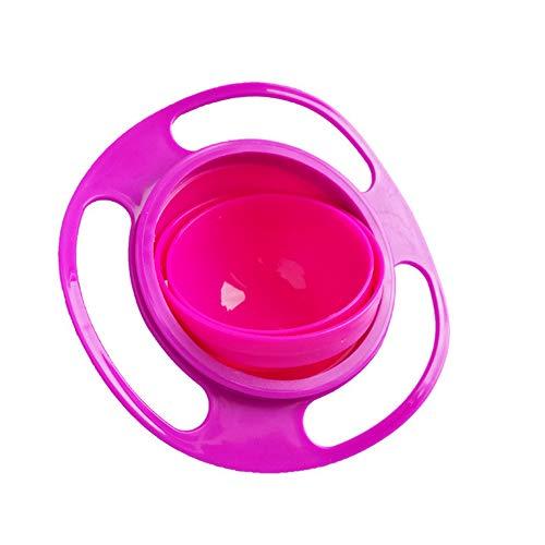 Ndier Befaith no derrame de alimentación Todoterreno Gyro Bowl 360 niños giratorios evitan los Alimentos derramar Rosa Hogar y Cocina