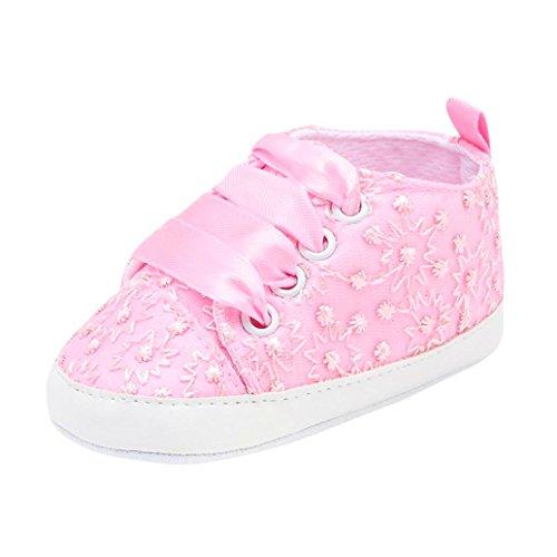 Zapatos de para Beb/é Ni/ñas Oto/ño Invierno PAOLIAN Zapatos de Primeros Pasos Suela Blanda Bautizo Antideslizante Boda Calzado de Embroidered Floral Regalo para reci/én Nacidos 0-12M