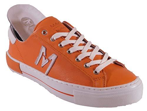 Maca Kitzbühel Sneaker, Schnürschuh, Antikleder orange, 2635 (Numeric_39)