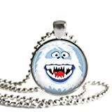 Rudolph's Bumble the Abominable Snow Monster 1 Inch Silver Plated Pendant Necklace or Keychain