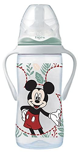 Tigex Mickey - Biberón irrompible 300 ml silicona + 6 meses
