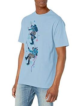 LRG Men s Short Sleeve Logo Design T-Shirt 47 Powder Blue XL