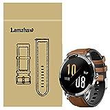 LvBu Armband Kompatibel Für Blackview X1, Leder Silikon Classic Ersatz Uhrenarmband Für Blackview X1 Smartwatch (braun)